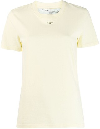 Off-White glass embellished logo T-shirt