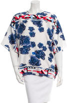 MSGM Printed Silk Top