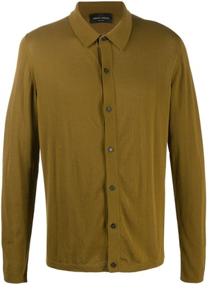 Roberto Collina Button-Down Fitted Polo Shirt