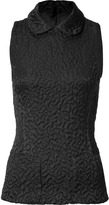 Rochas Puckered Round Collar Sleeveless Top
