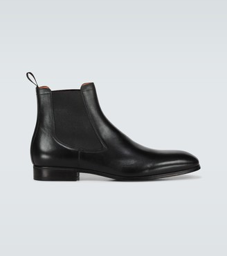 Santoni Chelsea leather boots