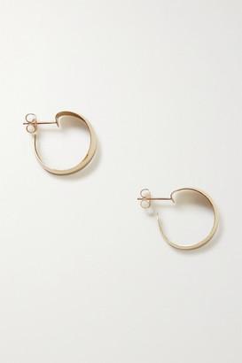 Loren Stewart Net Sustain Baby Dome Gold Hoop Earrings