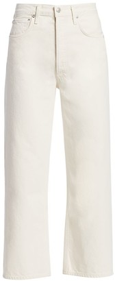 AGOLDE Ren High-Rise Cropped Wide-Leg Jeans
