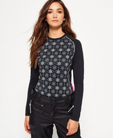 Superdry All Over Print Carbon Base Layer Top