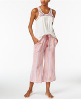 Lucky Brand Tank Top & Cropped Pants Cotton Pajama Set