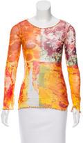 Jean Paul Gaultier Mesh Abstract Top