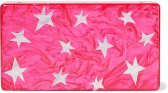 Edie Parker Jean Stars Marbled Acrylic Box Clutch