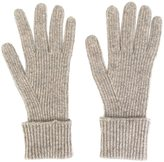 N.Peal cashmere 'Ladies' ribbed gloves