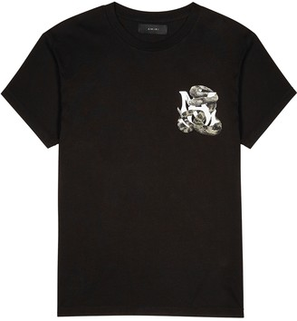 Amiri Black printed cotton T-shirt