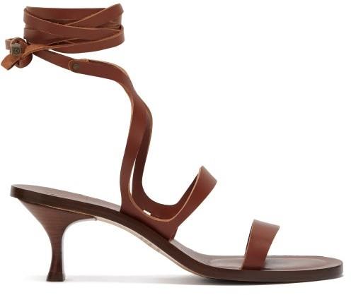 Around Sandals Alea Wrap Womens Dark Brown Leather uOPkTZXi