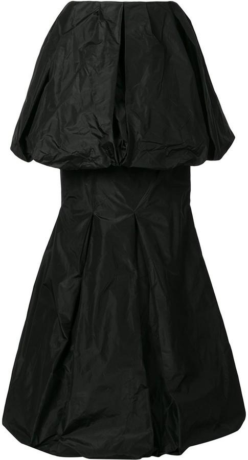 Vera Wang Draped Tiered Hem Silk Skirt