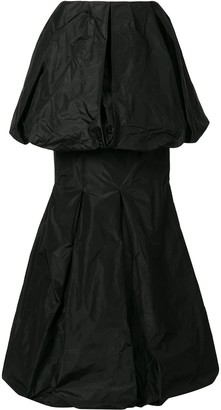 Vera Wang Draped Tiered Hem Silk Skirt