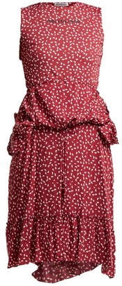 Balenciaga Paisley-print Layered Dress - Womens - Burgundy Print