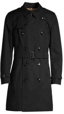Burberry Men's Kensington Heritage Trench Coat - Black - Size 40