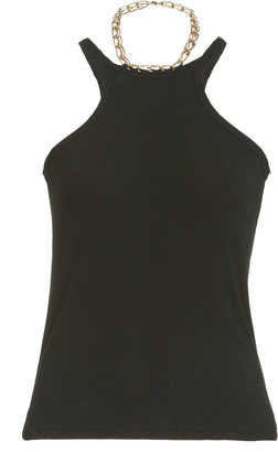 Dion Lee Chain-Detailed Cotton-Blend Tank Top