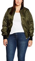 Yours Clothing Yours Women's Satin Bomber Jackets