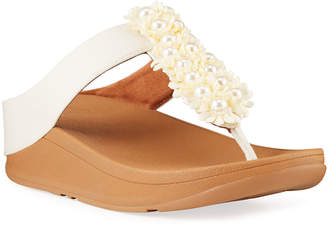 FitFlop Verna Floral Stud Thong Sandals