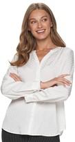 Elle Women's Bow Detail Button-Down Blouse