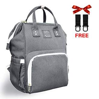 Cosy Angel Changing Bag Backpack, Baby Diaper Bag Nappy Back Pack Oxford Fabric with Buggy Hooks for Mum and Dad (Grey)