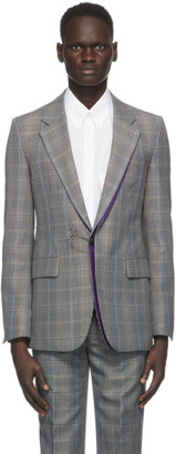Givenchy Black and Beige Wool Prince of Wales Blazer