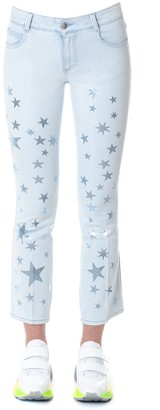 Stella McCartney Cotton Denim With Star Prints