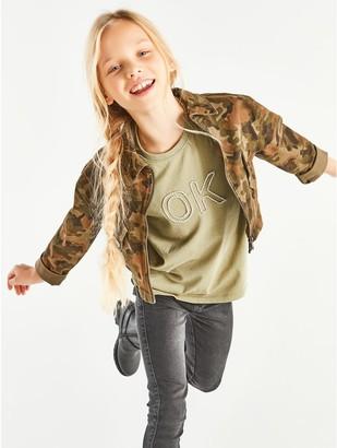 M&Co Camo print jacket (3-12yrs)
