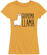 Instant Message Women's Women's Tee Shirts HEATHER - Heather Golden Meadow 'Grandma Llama' Relaxed-Fit Tee - Women