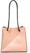 Victoria Beckham Cube Small Leather Shoulder Bag - Neutral