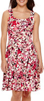 London Times London Style Collection Sleeveless Floral Fit-and-Flare Dress