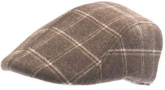 Nathaniel Cole Plaid-Print Moulded Flat Cap