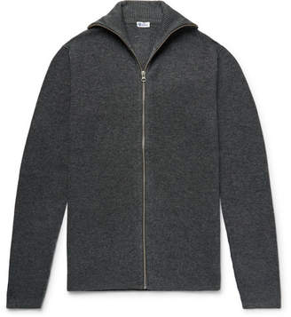 Schiesser Jonah Slim-Fit Melange Wool And Cashmere-Blend Zip-Up Cardigan