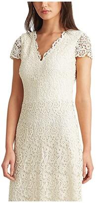 Lauren Ralph Lauren Sherona Dress (Matte Ivory) Women's Dress