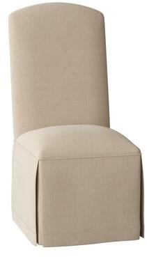 Sloane Belmont Side Chair Whitney Body Fabric: Trinity Linen, Ribbon Trim: Trinity Linen