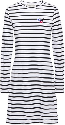 Être Cécile Appliqued Striped Cotton-jersey Mini Dress