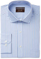 Tasso Elba Men's Classic Fit Non-Iron Texture Stripe Dress Shirt, Created for Macy's