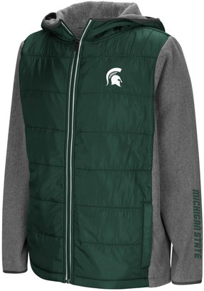 Colosseum Youth Green Michigan State Spartans Murphy Full-Zip Puff Jacket