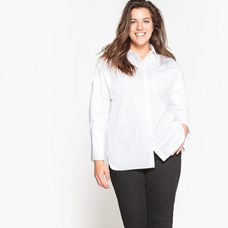 La Redoute Collections Plus Plain Oversized Long-Sleeved Shirt