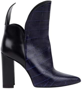 Louis Vuitton \N Navy Leather Boots