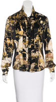 Roberto Cavalli Silk Printed Top