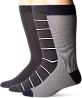 Lacoste Men's Striped Jersey Sock Three-Pack, Anchor Chine/Black/Flour
