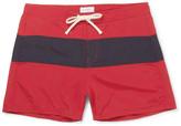 Saturdays NYC Grant Short-Length Colour-Block Faille Swim Shorts
