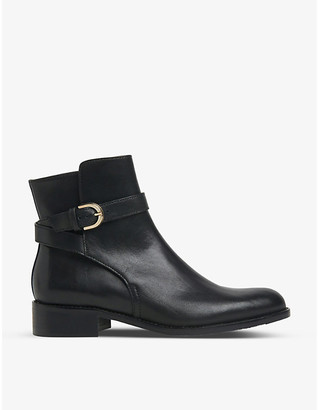 LK Bennett Annie buckle-detail leather ankle boots