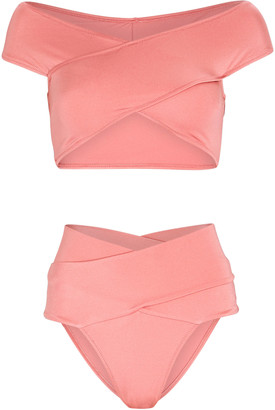 Oye Swimwear Lucette Off-the-Shoulder Bikini Set