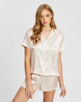 Papinelle Pure Silk Short Sleeve Shirt & Boxer Set