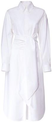 Alexandre Vauthier Cotton Stretch Long Shirt Dress