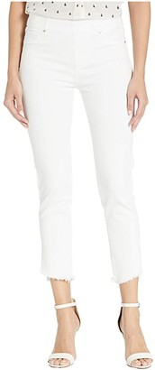 Liverpool Chloe Pull-On Crop Skinny w/ Angled Slit in Bright White (Bright White) Women's Jeans
