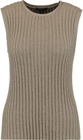 James Perse Ribbed-knit cotton-blend tank