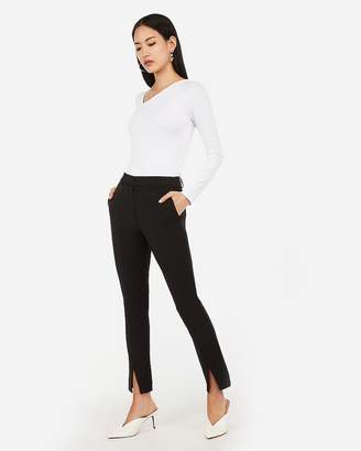 Express High Waisted Front Slit Cropped Skinny Pant