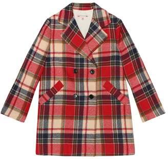 Bonpoint Madison plaid virgin wool coat
