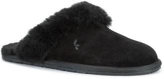 Koolaburra By Ugg Milo Genuine Shearling & Faux Fur Trimmed Scuff Slipper